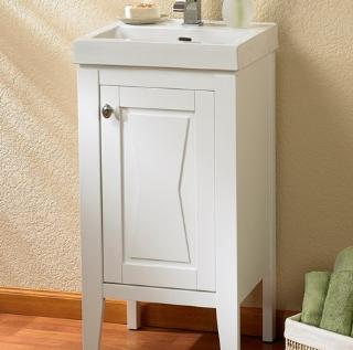 102 V18 FAIRMONT WHITE BOWTIE 18X16 BATHROOM VANITY COMBO